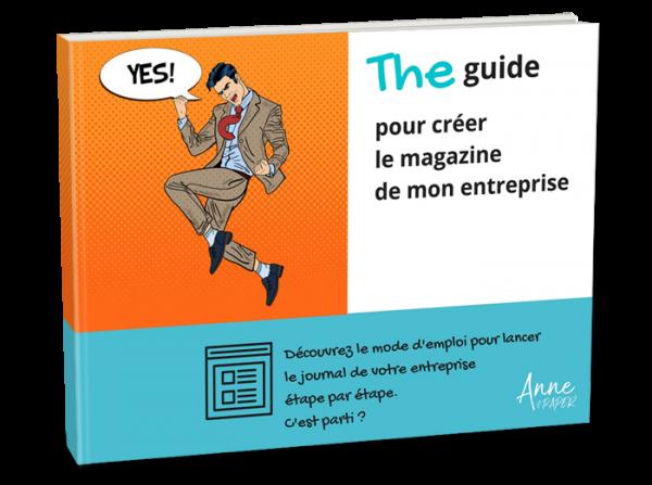 Anne&Paper - Couverture guide journal d'entreprise