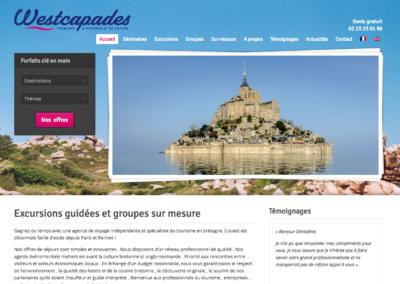 Westcapades : gestion de projet web et rédaction
