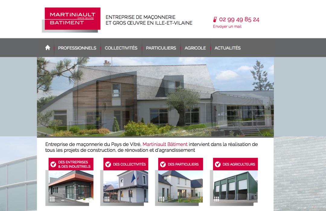 Martiniault Bâtiment : arborescence et rédaction web